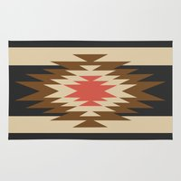 rare Area & Throw Rugs featuring Aztec 1 by Aztec