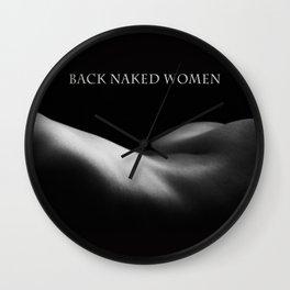 back naked women BW Wall Clock