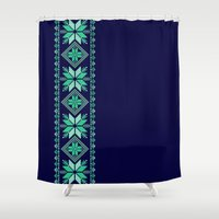 nordic Shower Curtains featuring NORDIC by Oksana Smith