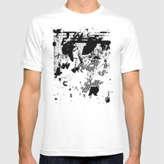 MUMBLE MUMBLE #I SMALL White Mens Fitted Tee