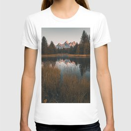Grand Teton National Park Mountain Reflection Sunrise Tall Print T-shirt