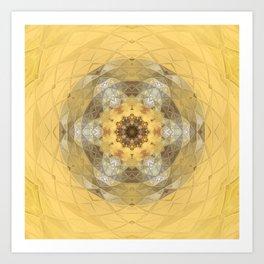 Golden Octavian Mandala Art Print