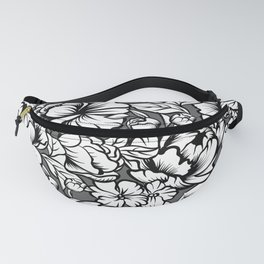seamless pattern with drawings of peonies flowers Fanny Pack