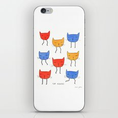 cat heads iPhone & iPod Skin
