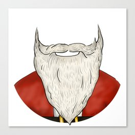 Santa Beard Canvas Print