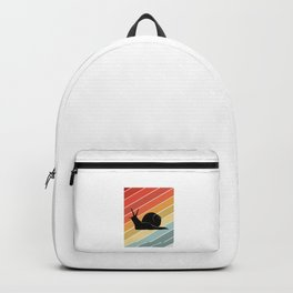 Retro Snail Gift Idea Backpack