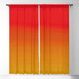 Red Apple and Golden Honey Ombre Sunset Blackout Curtain