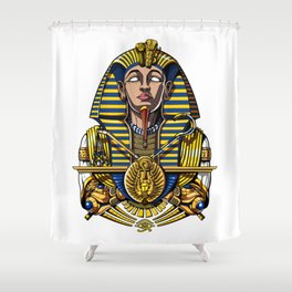 Egyptian Pharaoh Tutankhamun King Tut Shower Curtain