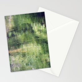 Trees reflected on water Stationery Cards