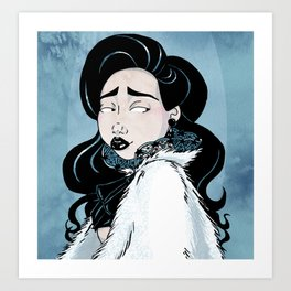 Fur Cape Art Print