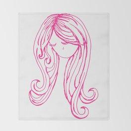 Pretty Pink Tear Throw Blanket