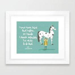 Motivational Pippi Framed Art Print