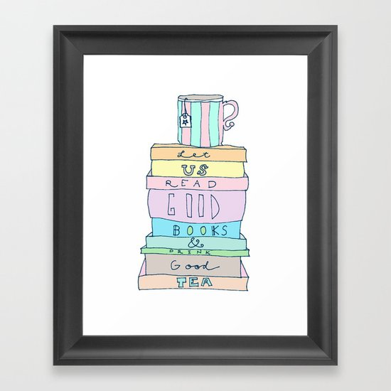 Good Books Framed Art Print