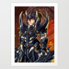 The reckless hunter Art Print