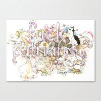 patriarchy Canvas Prints featuring Fuck Patriarchy by Beth Frey