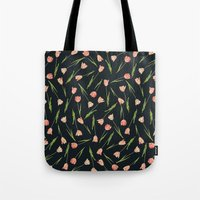 tulips Tote Bags featuring Tulips by Heart of Hearts Designs