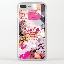 7: a vibrant abstract in jewel tones Clear iPhone Case