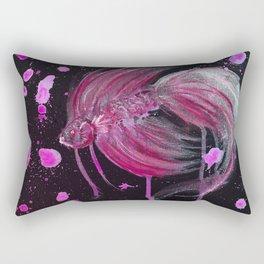 Fuschia Splatter Betta Rectangular Pillow