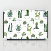 cacti iPad Cases featuring watercolour cacti and succulent by Vicky Webb