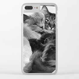 Pissy and Cooper Clear iPhone Case