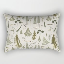 fern pattern white Rectangular Pillow