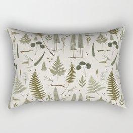 fern pattern white Rectangular Pillow