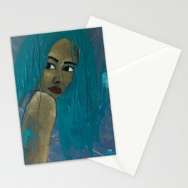 EVEN MY HAIR IS CRYING Stationery Cards