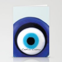 evil eye Stationery Cards featuring Evil Eye by SalbyN