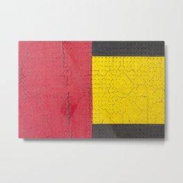 Red Grey Yellow Metal Print