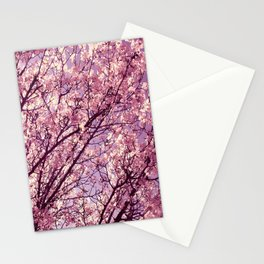 Pink Lavender Blossoms. Stationery Cards