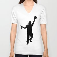 jay z V-neck T-shirts featuring #TheJumpmanSeries, Jay Z by @thepeteyrich