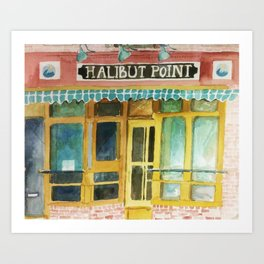 Halibut Point Restaurant Art Print