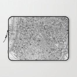 Vintage Map of Antwerp Belgium (1905) BW Laptop Sleeve