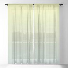 PARADISE COME - Minimal Plain Soft Mood Color Blend Prints Sheer Curtain