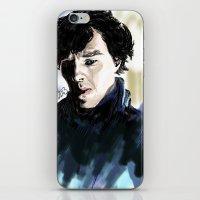 sherlock holmes iPhone & iPod Skins featuring Sherlock Holmes by Abbie James