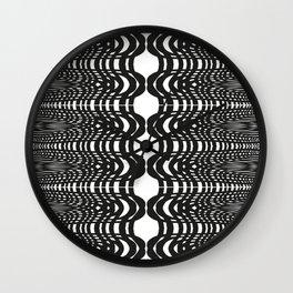 Black and White Swish Wall Clock