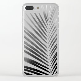Palm Leaf | Black and White Clear iPhone Case