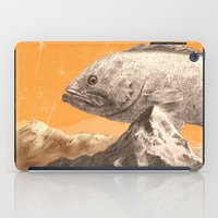 bass iPad Cases featuring Mountain Bass by Sam Rowe Illustration