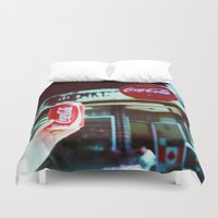 coca cola Duvet Covers featuring Drink Coca Cola by Devic Fotos