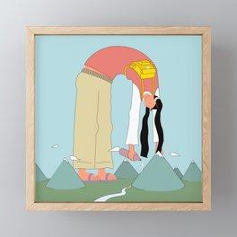 Water Girl Framed Mini Art Print