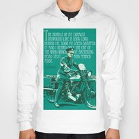 arab Hoodies featuring T.E. Lawrence on his Brough Superior by Saddle Bums