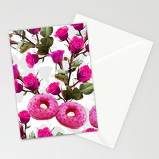 Roses are Pink, Donuts are Delicious Stationery Cards