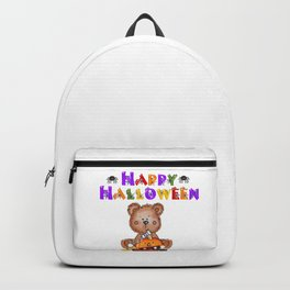 My Teddy Loves Halloween Backpack
