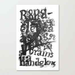 Type Face Canvas Print