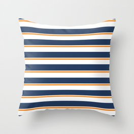 Sea Shanty (navy and gold) Throw Pillow