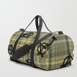 yellow plaid anarchy Duffle Bag