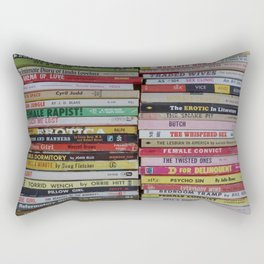 Late Night Reading Rectangular Pillow