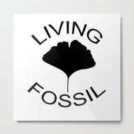 Ginkgo leaf. Living fossil Metal Print
