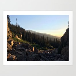 Upper Ouzel Creek Art Print