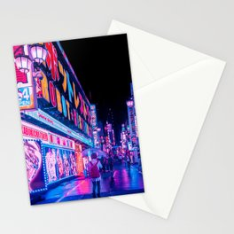 Neon Drip Stationery Cards